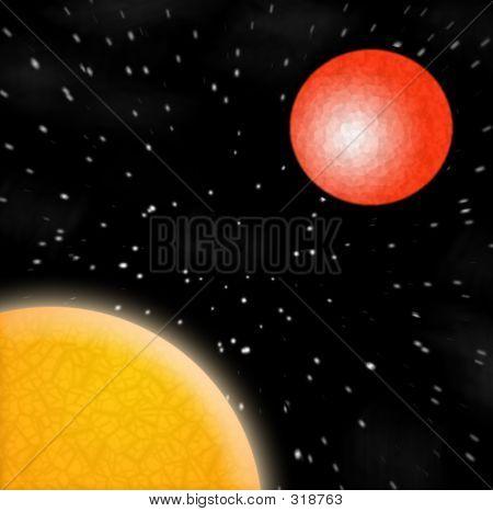 Sun mars Planeten Sternen bewertet