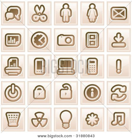 Retro Stylized Interface Icons. Vector Collection #1
