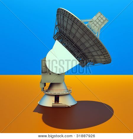 Large Array satellite dish antenna