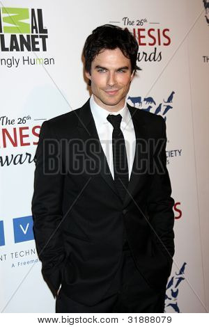 LOS ANGELES - MAR 24:  Ian Somerhalder arrives at  the 2012 Genesis Awards at the Beverly Hilton Hotel on March 24, 2012 in Beverly Hills, CA