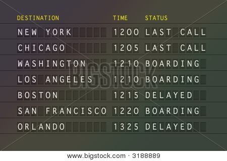 Flight Departures - Usa