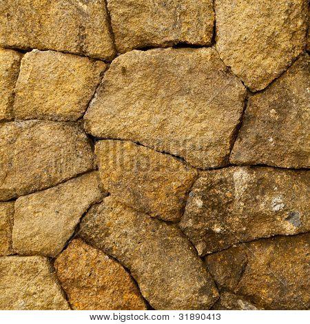 Steinmauer, textur viereck