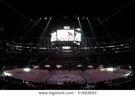 LOS ANGELES - NOV 28: A general view of Staples Center before the National Hockey League game on Nov 28 2011 at Staples Center in Los Angeles.