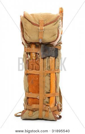 Travel bag on a white background.