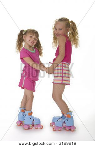 Cute Roller Skate Girls