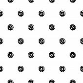 Abstract Polka Dot Pattern With Hand Drawn Dots. Cute Vector Black And White Polka Dot Pattern. Seam poster