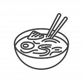 Noodles Icon Isolated On White Background. Noodles Icon In Trendy Design Style For Web Site And Mobi poster