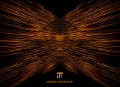 Abstract Technology Data Connection Speed Orange Lines Perspective On Dark Background. Vector Illust poster