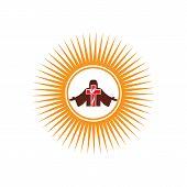 Church Christian Line Art Logo Design,christian Symbols. poster