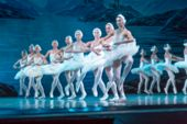 Not Sharp Ballet Background. No Focus Background Classical Ballet On Stage Of Theater. Ballet Dancer poster