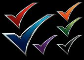 pic of check mark  - Colorful vector assortment of check mark icon backgrounds - JPG