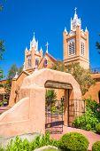 Albuquerque, New Mexico, USA at historic San Felipe de Neri Church. poster