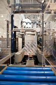 COLOGNE, GERMANY - MARCH 27 : New C-400 case erector on display at the Lantech booth at the ANUGA Fo