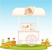 Illustration of an ice-cream cart