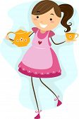 pic of tea party  - Illustration of a Girl Making Preparations for a Tea Party - JPG
