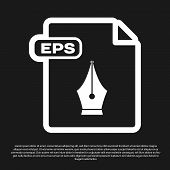 Black Eps File Document. Download Eps Button Icon Isolated On Black Background. Eps File Symbol. Vec poster