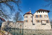 Hdr Shot Of Famous Castle In Hallwyl In Switzerland poster