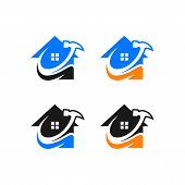 Real Estate Vector Logo Design, Eco Real Estate Logo, Tree With Real Estate Logo,  Building  Logo De poster