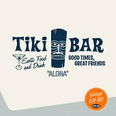 stock photo of tiki  - Vintage Clip Art  - JPG