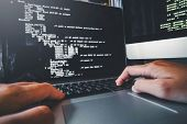 Developing Programmer Development Website Design And Coding Technologies Working In Software Company poster
