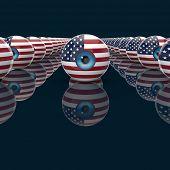 Surveillance concept - 3D Illustration poster