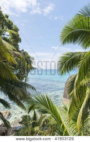 Dream Beach On The Island Of La Digue, Seychelles, Indian Ocean