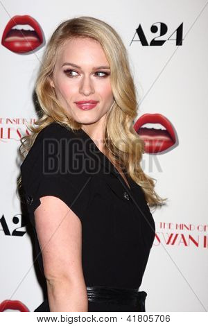 LOS ANGELES - FEB 4:  Leven Rambin arrives at 'A Glimpse Inside the Mind of Charles Swan III' LA Premiere at the ArcLight Hollywood on February 4, 2013 in Los Angeles, CA