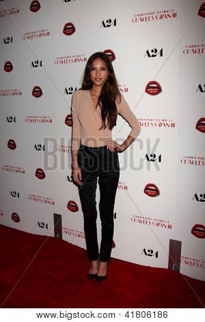 LOS ANGELES - FEB 4:  Kelsey Chow arrives at 'A Glimpse Inside the Mind of Charles Swan III' LA Premiere at the ArcLight Hollywood on February 4, 2013 in Los Angeles, CA