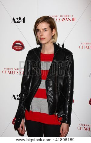 LOS ANGELES - FEB 4:  Agyness Deyn arrives at 'A Glimpse Inside the Mind of Charles Swan III' LA Premiere at the ArcLight Hollywood on February 4, 2013 in Los Angeles, CA