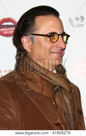 LOS ANGELES - FEB 4:  Andy Garcia arrives at 'A Glimpse Inside the Mind of Charles Swan III' LA Premiere at the ArcLight Hollywood on February 4, 2013 in Los Angeles, CA
