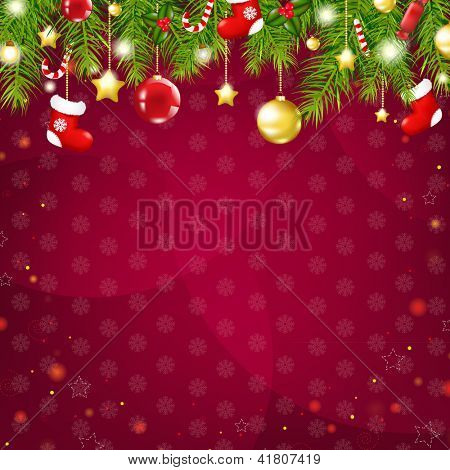 Christmas And Happy New Year Card