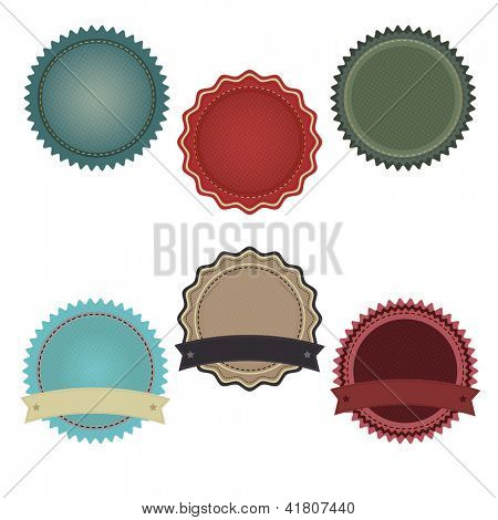 6 Promo Badges, Isolated On White Background