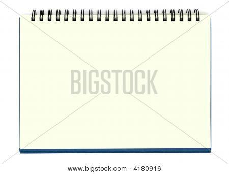 Yellow Blank Notebook Sheet