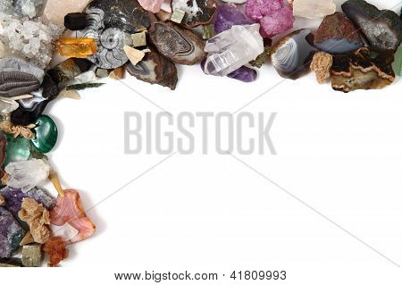 Mineral Collection As Frame