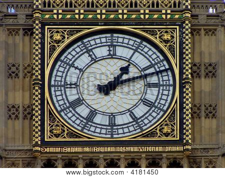 Big Ben Clock In London, Uk