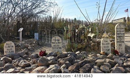 A Boothill Graveyard Scene In Tombstone, Arizona
