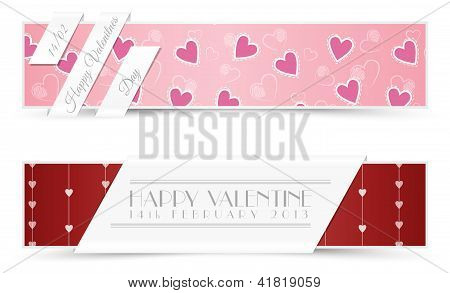 Valentine Greeting Cards Banners