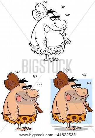 Caveman Cartoon Mascot Characters