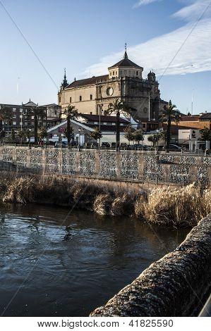 View of San Prudencio, Tagus River, Talavera, Toledo,