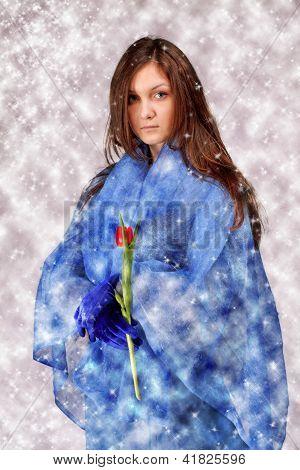 Beautiful Lady In Blue
