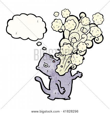 cartoon gross burping cat