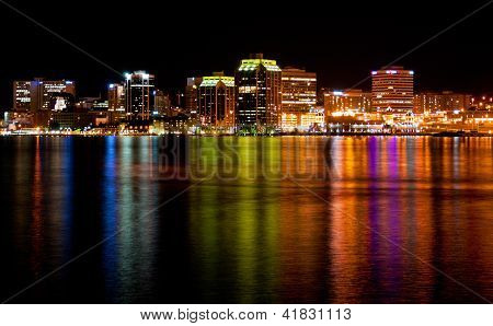 Downtown Halifax Skyline At Night