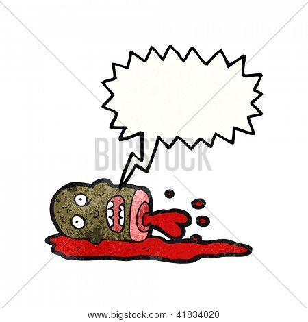 cartoon blood spurting severed head