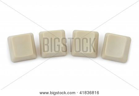 Four Blank Computer Buttons