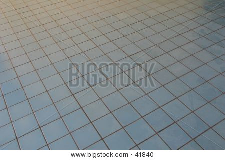 Blue Tile Floor