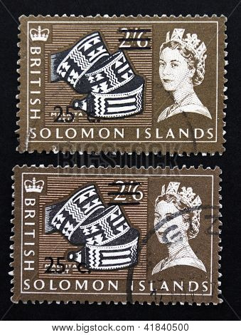 Two Solomon Islands postage stamps