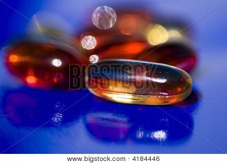 Close up of gell pills