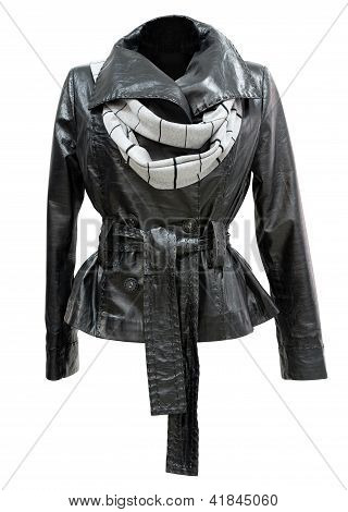 Leather Ladies Jacket, Isolated
