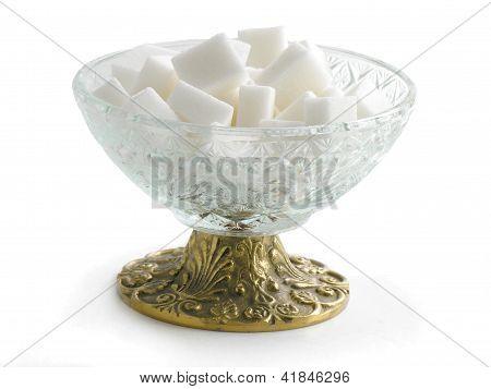 white lumped sugar