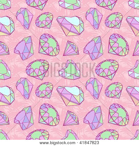 Color diamonds seamless pattern